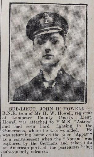 1916 week 80 CN 11-2-16 Sub-Lieut John Howell