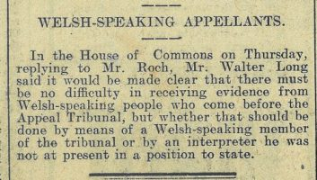 1916 week 86 CTA 24-3-16 Welsh-speaking appellants