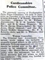 1916 week 90 CN 21-4-16 Cardiganshire Police Committee