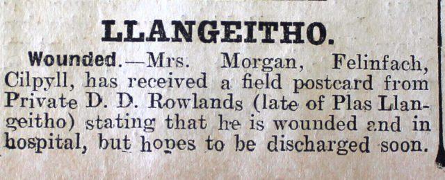 1916 week 90 CN 21-4-16 Llangeitho