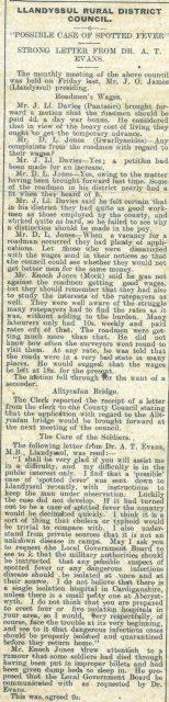 1916 week 90 CTA 21-4-16 Llandysul Rural District Council