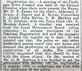 1916 WW1 week 91 CTA 28-4-16 Registration