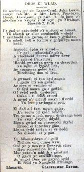 1916 week 94 CTA 19-5-16 Dros ei wlad