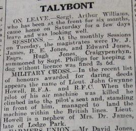 1916 week 97 CN 9-6-16 Talybont