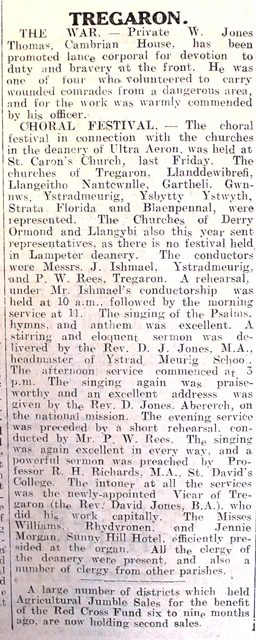 1916 week 99 CN 22-6-16 Tregaron 2