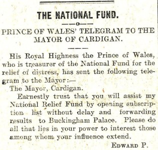 1914 WW1 week 3.1 Prince of Wales telegram