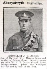 1916 week 101 CN Aberystwyth signaller