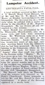1916 Week 101 CN Lampeter accident
