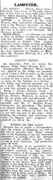 1916 week 101 CN Lampeter