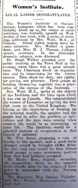 1916 week 101 CN Women's Institute