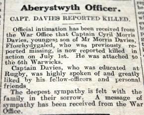 CN Aberystwyth officer