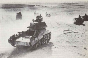 Exercise of light Vickers Mark IIA tanks