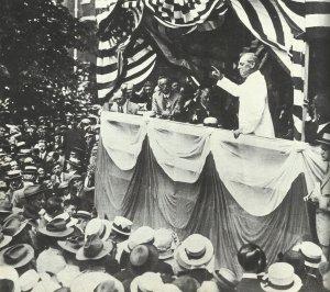 Woodrow Wilson is speaking in Philadelphia