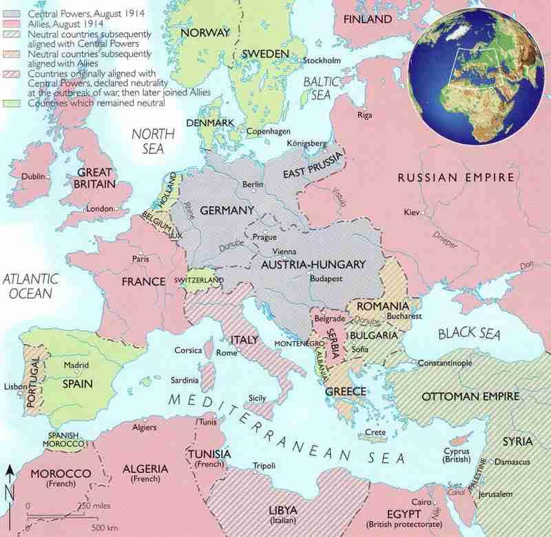 Road To War - Berlin map 1914