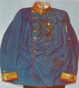 archduke's blood-stained uniform