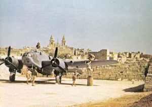 A Bristol Beaufort II torpedo bomber at Malta.
