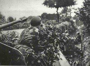 German self-propelled anti-aircraft gun in Normandy