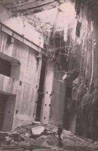U-Boat bunker destroyed by a Grand Slam.