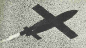 threatening shadow of a V-1