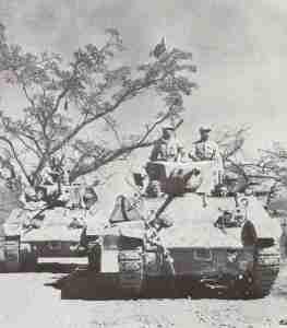 Chinese Stuart tanks on the Ledo road