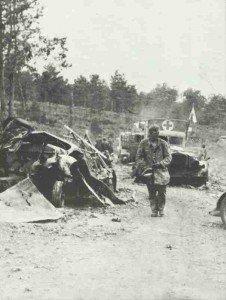 destroyed German motor column