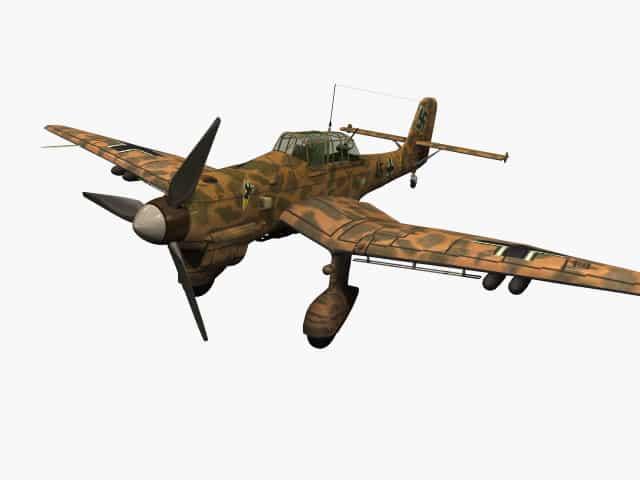 3d model of Junkers Ju 87 B Stuka (Trop)