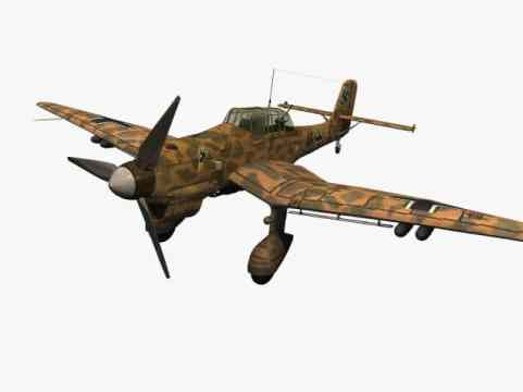 3d model of Junkers Ju 87 B Stuka (Trop)