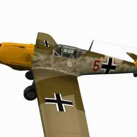 3d model Messerschmitt Bf 109 E