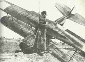 Red Army soldier guards shot down Polish aircraft