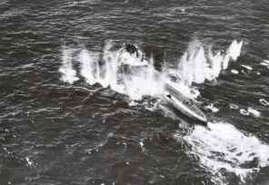 U-Boat attacked by Halifax bomber