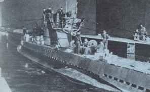 U-boat leaves U-boat bunker