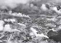 Huge fires after German air attack in Warsaws suburb Praga