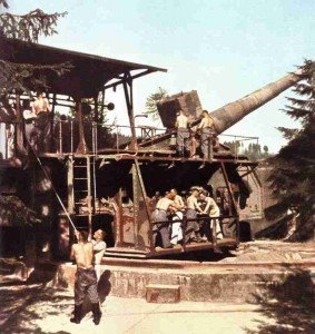 German long range artillery gun at Calais