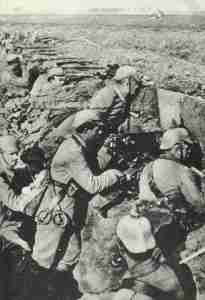 German troops in the trenches 1914