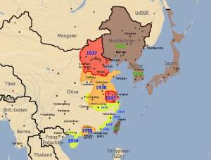 Map of war in China 1937-39