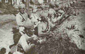 Indian soldiers of 129th Baluchis at Ypern