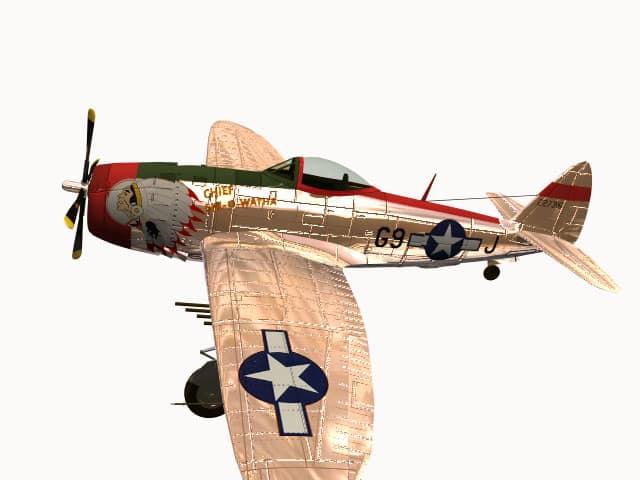 3d model P-47 Thunderbolt