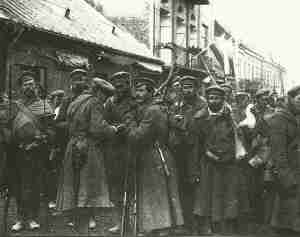 Russian troops in Warsaw 1914