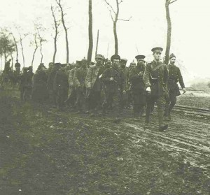 British soldiers with German PoW's at Ypern