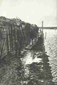 Flooded German trenches at the Yser