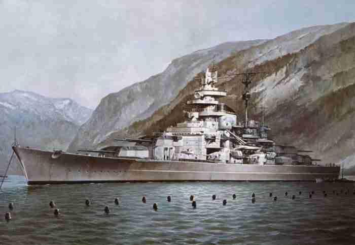 Battleship Tirpitz in Norway