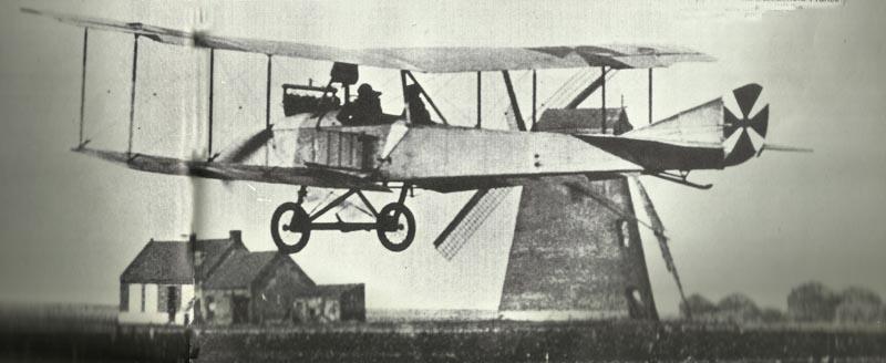 Albatros B taking off