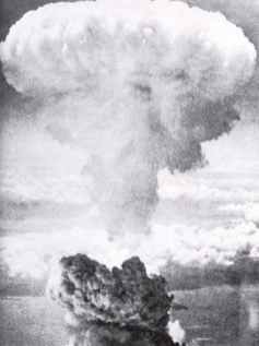 cloud of the first atomic bomb over Hiroshima