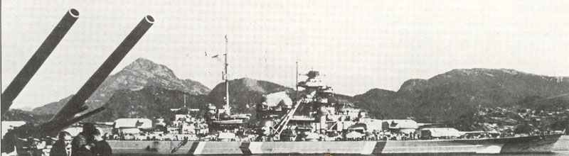 Bismarck in a fjord of Norway