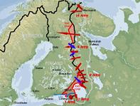 map of Winter War in Finland 1939-40