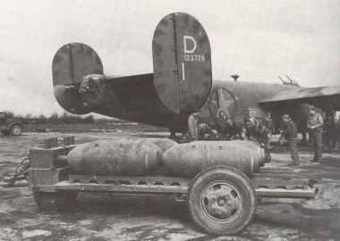 B-24 Liberator 'Lucky Luke' is 'bombed up'