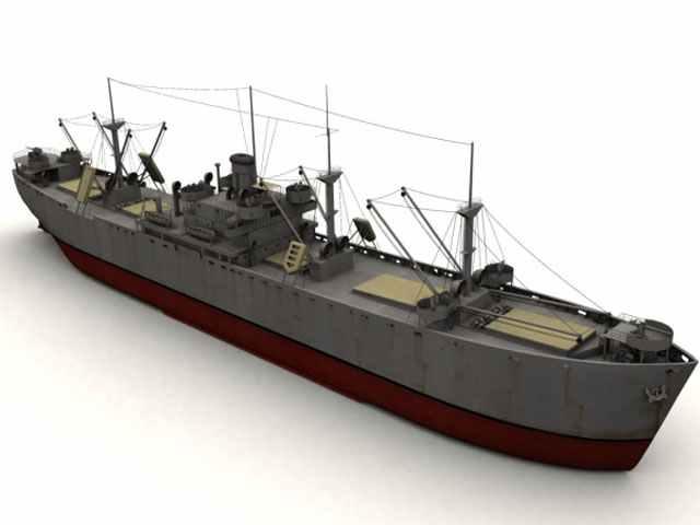3d model Liberty ship
