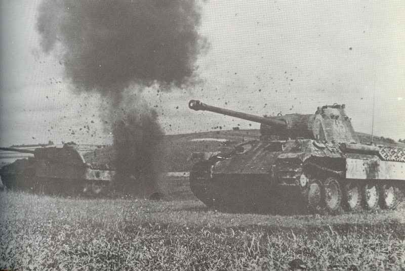 Panther tanks under fire