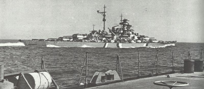 battleship Bismarck final cruise