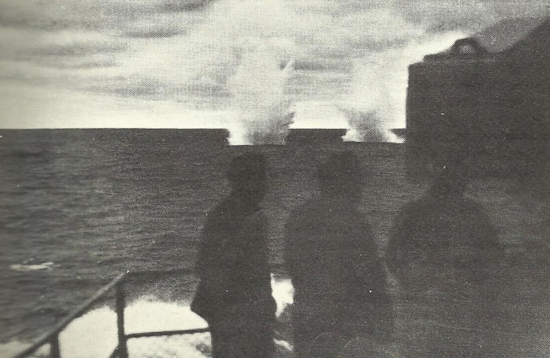 Prince of Wales shells in front of Prinz Eugen